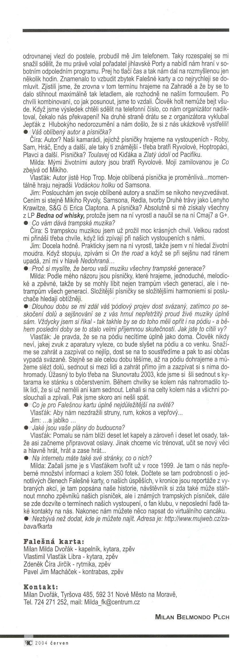 Folk & Country - Rozhovor s FK, 2. strana