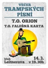 2012 - Písničkový večer Orion - Plakát