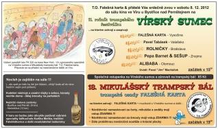 2012 - 11. Vírský sumec a 18. Mikulášský trampský bál FK - Zvadlo